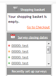 survey closing dates reminder box